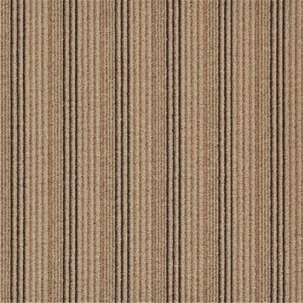 Meeting Conference Room Striped Carpet Tiles 100% Nylon Material With PVC Backing